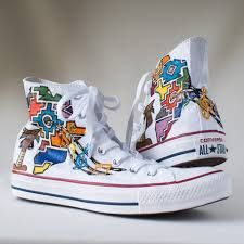Image result for ndebele print sneakers Converse Chuck Taylor High, Converse High, High Top Sneakers, Chuck Taylors High Top, High Tops, Image, Shoes, Fashion, Moda