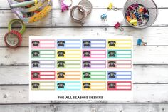 Call Reminder Planner Stickers Phone by ForAllSeasonsDesigns