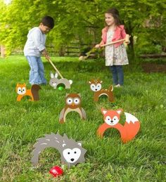 Woodland Croquet Great for family game night and outdoor parties, kids and adults love to play this sweet twist on the backyard classic. family games with kids Outdoor Parties, Outdoor Fun, Outdoor Toys, Outdoor Ideas, Outdoor Crafts, Giant Outdoor Games, Outdoor Party Games, Outdoor Playground, Holiday Gift Guide