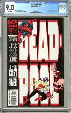 Deadpool #2 The Circle Chase (1993) CGC 9.0 White Pages 0282894008