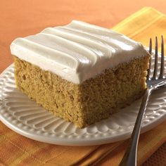 This easy pumpkin cake starts with a cake mix and is spiced with cinnamon and ground cloves. It is made even more delicious with a luscious cream cheese frosting.