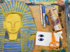 that artist woman: King Tut Pastel Resist