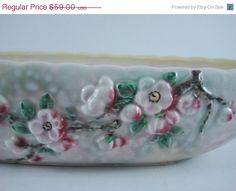 ON SALE Apple Blossom Console Bowl English Art Pottery