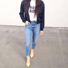 Outfit details: Bomber- http://asos.do/xglcqK T-shirt- http://asos.do/KedX9y Jeans- http://asos.do/EV9jjf Heels- http://asos.do/gAkGLV