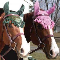 Awesome crochet fly veil.... if you make these i will never speak to you again!  although, you could probably sell them on mackinac island... just a thought.