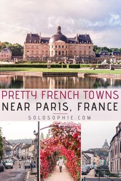 Here are 10 incredibly beautiful towns in France near Paris you'll just love! Easy, cultural, and historical trips from Paris, France on Île de la Cité. Paris Travel Guide, Europe Travel Tips, European Travel, Places To Travel, Travel Hacks, Instagram Inspiration, Travel Inspiration, Rio Sena, Hotel Des Invalides