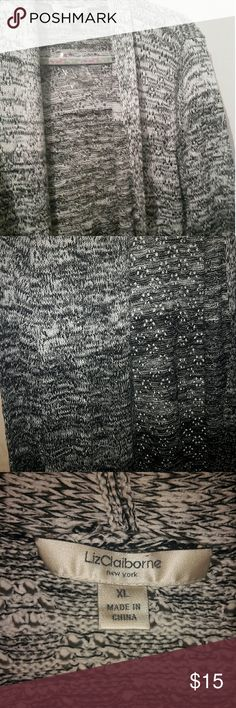 Sweater It's a black and white sweatet Liz Claiborne Sweaters Cardigans