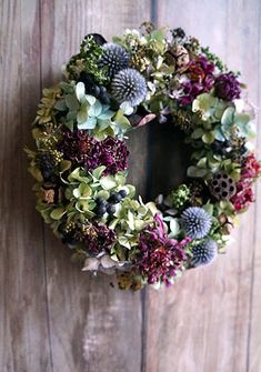 Such a day of Siberiazukizuki – Flowers Desing Ideas Rose Gold Christmas Decorations, Christmas Flowers, Dried Flower Wreaths, Dried Flowers, Deco Floral, Arte Floral, Corona Floral, Diy Wreath, Holiday Wreaths