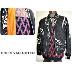 Go bold this winter with this Dries van Noten paisley bomber jacket and patterned sweater. Only at Flip! Featured items: Dries van Noten jacket (M) $498, Dries van Noten sweater (L) $298 - #nashville #hip2flip #consignment #menswear #designerconsignment #driesvannoten