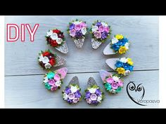 Beaded Flowers, Diy Flowers, Paper Flowers, Making Hair Bows, Diy Hair Bows, Cardboard Crafts, Foam Crafts, Hair Bow Tutorial, Pom Pom Crafts