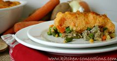 Kitchen Concoctions: Sweet Potato and Turkey Shepherd's Pie #recipe #dinner #kitchenconcoctions