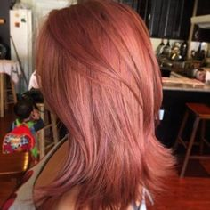 Love this unnatural hair color: Rose Gold, or called Champagne Strawberry