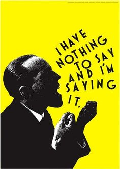 Alan Fletcher, graphic design, poster, yellow