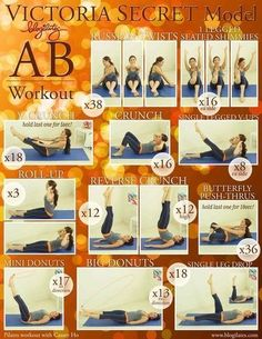 Not sure if this is really the ab exercises of the VS models like it says, but it looks good to me!