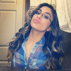 Ally Brooke shows off her glasses #fifthharmony