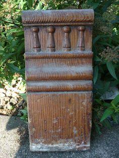 Antique Door Plinth Block - Circa 1890 Eastlake Architectural Salvage