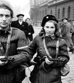 Resistance fighters against the Secret Police and Soviet forces in October – November 1956