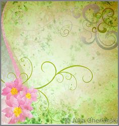spring green grunge background with pink flowers and butterflies     http://www.tpt-fonts4teachers.blogspot.com/2013/01/san-valentines-day-free-clip-arts.html