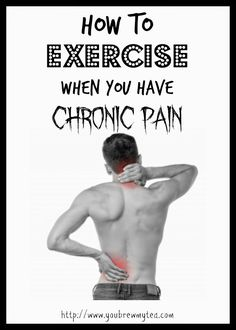 How To Exercise When Your Have Chronic Pain One of the biggest challenges I have faced this year in trying to lose weight and improve my health is the pain involved. Not just the pain of the exercise in general, but dealing with How To Exercise When You H Trying To Lose Weight, Diet Plans To Lose Weight, Losing Weight Tips, Weight Loss Plans, Best Weight Loss, Weight Loss Tips, Fitness Pal, Fitness Tracker, Fitness Diet