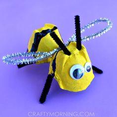 Egg Carton Bumble Bee Craft for Kids
