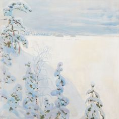 Akseli Gallen-Kallela (Finnish, 1865-1931). Talvimaisema Winter landscape)