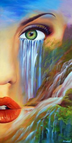 Ideas Mother Nature Drawing Fantasy Art For 2019 Eyes Artwork, Nature Artwork, Nature Drawing, Nature Paintings, Drawing Drawing, Illusion Kunst, Illusion Art, Fantasy Kunst, Fantasy Art