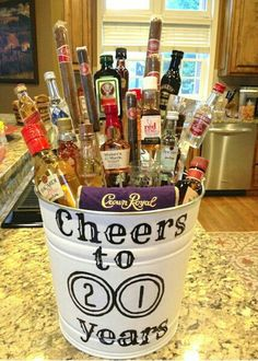 35 Easy DIY Gift Ideas People Actually Want -- A liquor bouquet! - 35 Easy DIY Gift Ideas People Actually Want — A liquor bouquet! The Effective Pictures We Offer Y - Easy Diy Gifts, Creative Gifts, Homemade Gifts, Cute Gifts, Best Gifts, Creative Ideas, Liquor Bouquet, Mini Alcohol Bouquet, Mini Liquor Bottles