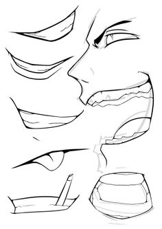 Marvelous Learn To Draw Manga Ideas. Exquisite Learn To Draw Manga Ideas. Manga Mouth, Anime Mouth Drawing, Manga Drawing, Manga Eyes, Boca Anime, Drawing Face Expressions, Wie Zeichnet Man Manga, Drawing Reference Poses, Drawing Tips