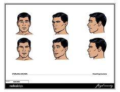 archer character sheet | Meet Sam Ellis, Lead Character designer for ARCHER, at VA Comicon THIS ...