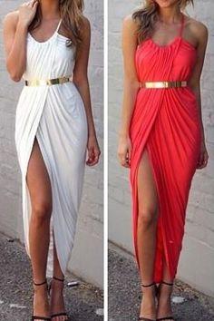 Sexy Bohemian V Neck Spaghetti Strap Asymmetrical Ankle Length White Spandex Dress