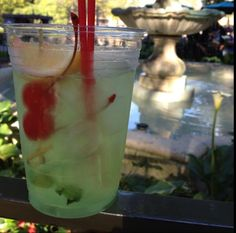 My favorite thing to get there. Mint Julep from New Orleans Square Disney World Fl, Disney Land, Refreshing Drinks, Fun Drinks, Yummy Recipes, Yummy Food, Disneyland Food, Disney Resorts, Alcoholic Beverages