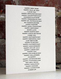 all purpose letterpress card by shopsaplingpress on Etsy, $4.50