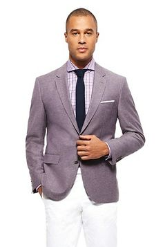 'Jarett' | Regular Fit, Virgin Wool Cotton Sport Coat by BOSS Model Jarett 50262489 Dark Purple