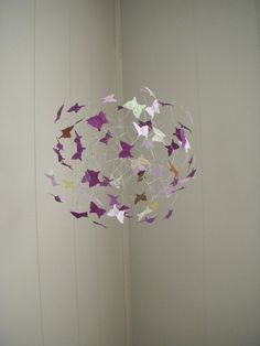 Baby Girl Butterfly Mobile Purple Lavendar  Baby by ButterflyOrbs, $52.00