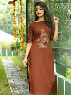 for this Tailer fit designer wear Salwar Suit Neck Designs, Churidar Designs, Kurta Designs Women, Blouse Designs, Sleeve Designs, Dress Indian Style, Indian Dresses, Casual Indian Fashion, Glamour