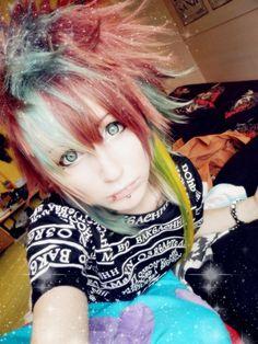 My hairstyle ~♫ Japanese Makeup, Japanese Fashion, Alternative Fashion, Alternative Style, Gyaru, Visual Kei, Gothic Lolita, Emo Fashion, Cute Girls