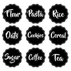 Keep your kitchen and pantry organized with a set of our pantry or spice labels. From write-on/wipe-off labels to customizable pantry label packs, you are bound to find just the right fit for your space. Spice Labels, Pantry Labels, Jar Labels, Printable Labels, Printables, Coffee Jars, Old Faces, Kitchen Canisters, Cricut Creations