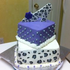 Leopard themed birthday cake