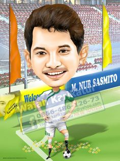 The football Caricature