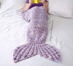 Manta cola de #sirena tejida a palitos o dos agujas: paso a paso! #Mermaid tail blanket!