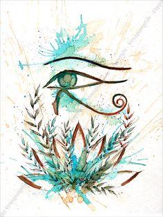 Horus Auge, Ink Art