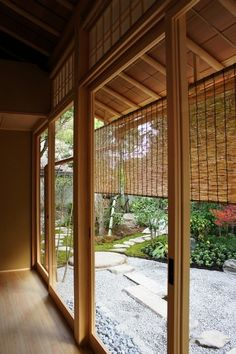 京都室町町屋 縁側と庭