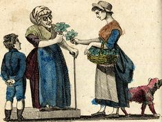 Cries of London, illustrated 1803 from Spitalsfield blog Ground Ivy