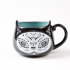 Celebrate your love for felines with this Dia de los Muertos Cat Mug | Price $14.95
