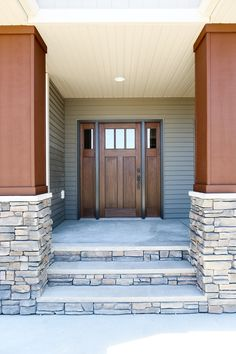 Exterior Doors | An Unadorned Entry, Ready For A New Homeowner With A  Classic Craftsman