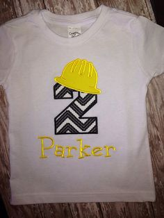 Construction birthday party shirt on Etsy, $20.00