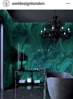 feinsteinzeug wand fliesen für bad in dunkelgrün - malachit, Hause ideen