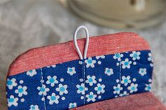 floral lining of a cotton coin purse, made of soviet and vintage dutch fabrics by my dear mom/mywhiteroom