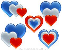 Tube bleus blancs rouges png 51 coeur fete du 14 juillet