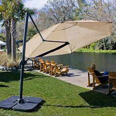 coolaroo cantilever umbrella round 12 mocha cantilever patio